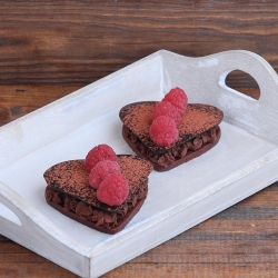 Chocolate Mousse Raspberry Hearts Recipe