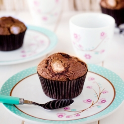 Chocolate Muffins with Toffee Cream Recipe