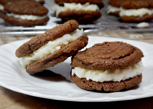 Chocolate Sandwich Cookies with Coconut Filling Recipe