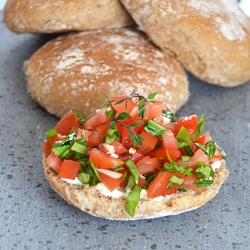 Ciabatta with Simple Tomato Salad