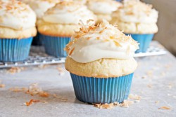 Coconut Cupcakes with Cream Cheese Frosting and Toasted Coconut Recipe