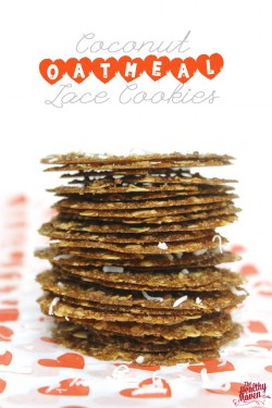 Coconut Oatmeal Lace Cookies Recipe