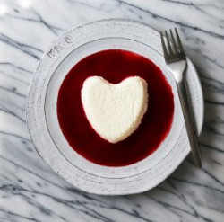 Coeur a la Creme with Raspberry Sauce Recipe