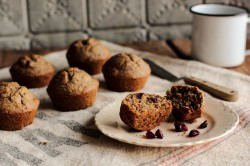 Cranberry Flaxseed Muffins
