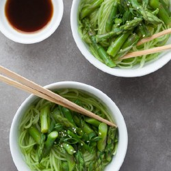 Cucumber Noodles with Sesame Sauce