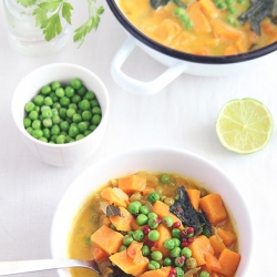 Curried Soup of Sweet Potato