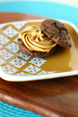 Double Chocolate Chip Cookies with Dulce de Leche Recipe