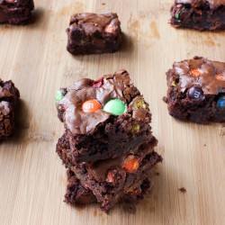 Double Chocolate MM Brownies Recipe