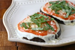 Eggplant Pizza with Tomato and Basil Recipe