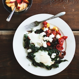Eggs with Chard