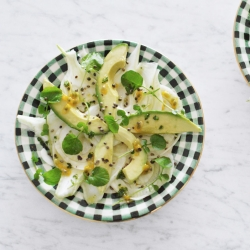 Fennel Avocado Salad with Passion Fruit Dressing Recipe