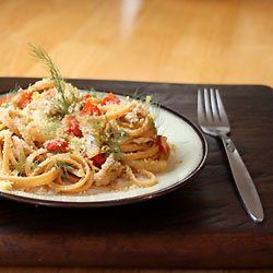 Fennel, Tomato and Sardine Linguini