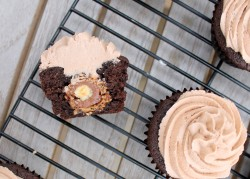 Ferrero Rocher Chocolate Cupcake