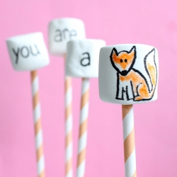 Fox Marshmallow Pops for Valentines Day