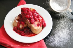 French Toast with Rose Raspberry Sauce Recipe