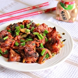 Fried Cauliflower with Spring Onions and Capsicum Recipe