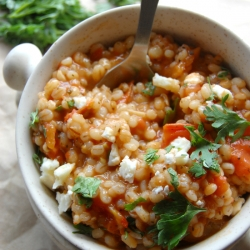 Garlicky Tomato Barley Risotto Recipe