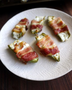Goat Cheese-Stuffed Bacon-Wrapped Jalapenos