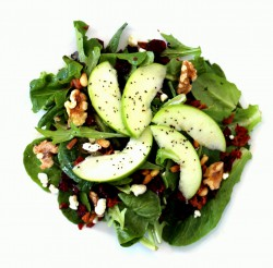 Gorgonzola Walnuts Apples and Cranberries Salad Recipe