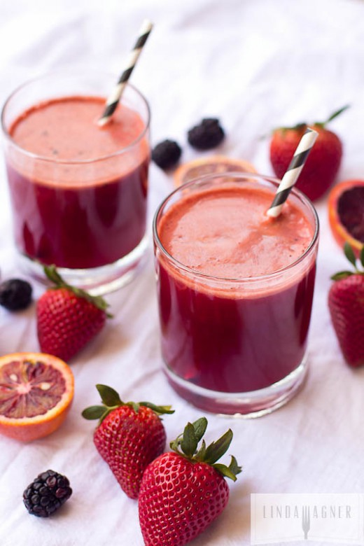 Grapefruit Berry Juice Recipe