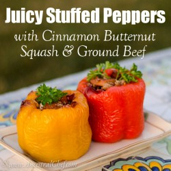 Ground Beef and Butternut Stuffed Peppers Recipe