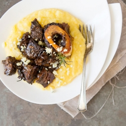 Guinness Braised Beef with Polenta Recipe