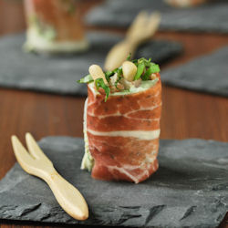 Ham Rolls with Pesto