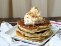 Hazelnut and granola pancakes