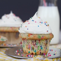 Healthier Funfetti Cupcakes for Two