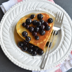 Heart Shaped Blueberry Pancakes Recipe