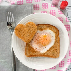 Heart Shaped Egg in a Hole Recipe