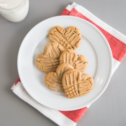 Heart Shaped Peanut Butter Cookies Recipe