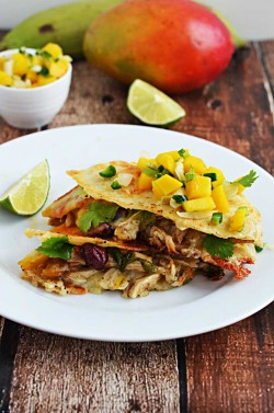 Jamaican Jerk Chicken Quesadilla Recipe