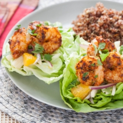 Latin Spiced Shrimp in Butter Lettuce Cups Recipe