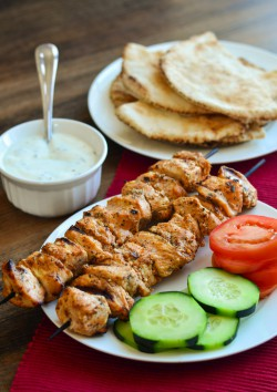 Lebanese Shish Taouk Chicken Skewers Recipe