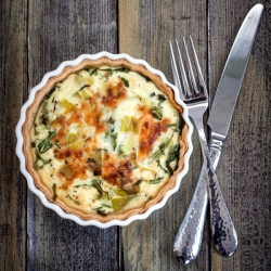 Leek and Arugula Quiche Recipe