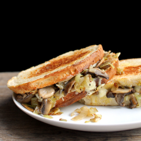 Leek and Mushroom Grilled Cheese