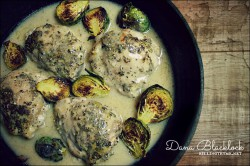 Lemon and Herb Roasted Chicken with Tangy Lemon Sauce