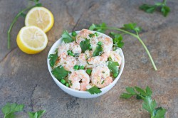 Lemon Parsley Shrimp with Orzo