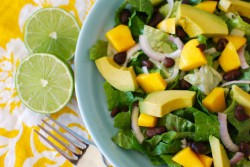 Mango Avocado Salad with Creamy Salsa Dressing Recipe