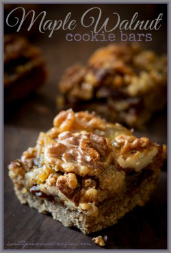 Maple Walnut Cookie Bars with Raisin