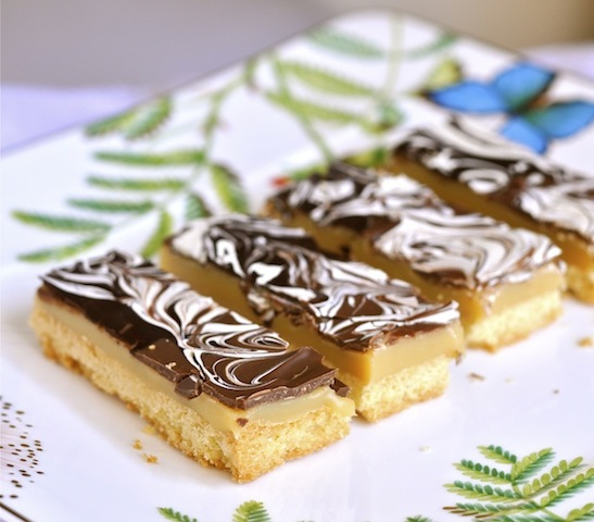 Marbled Caramel Chocolate Slices