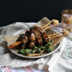 Miso-Marinated Beef Skewers