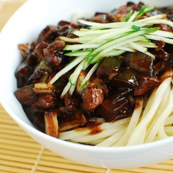 Noodles in Black Bean Sauce