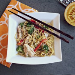 Noodles with Orange Sesame Chicken