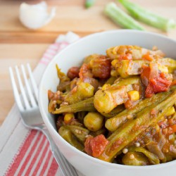 Okra and Corn Creole Stew