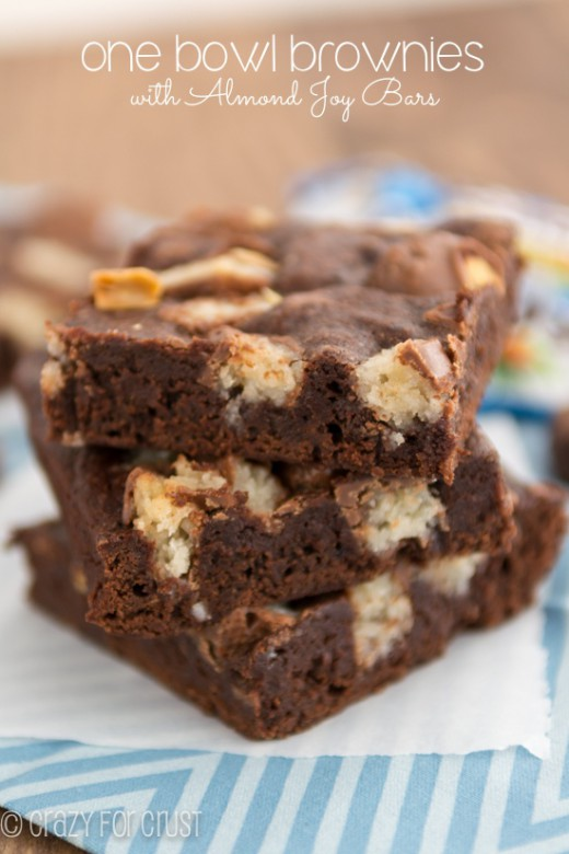 One Bowl Almond Joy Brownies Recipe