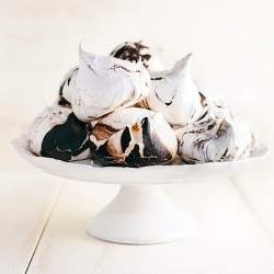Orange Blossom Meringues with Dark Chocolate Swirls Recipe