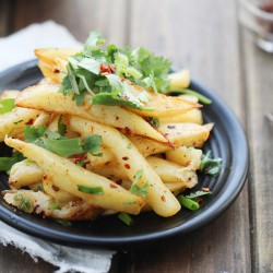 Pan Fried Spicy Potato Wedges Recipe