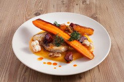 Pan Fried White Fish with Butternut Squash Puree